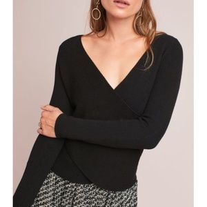 Moth by Anthro   Glyn Reversible Wrap Pullover